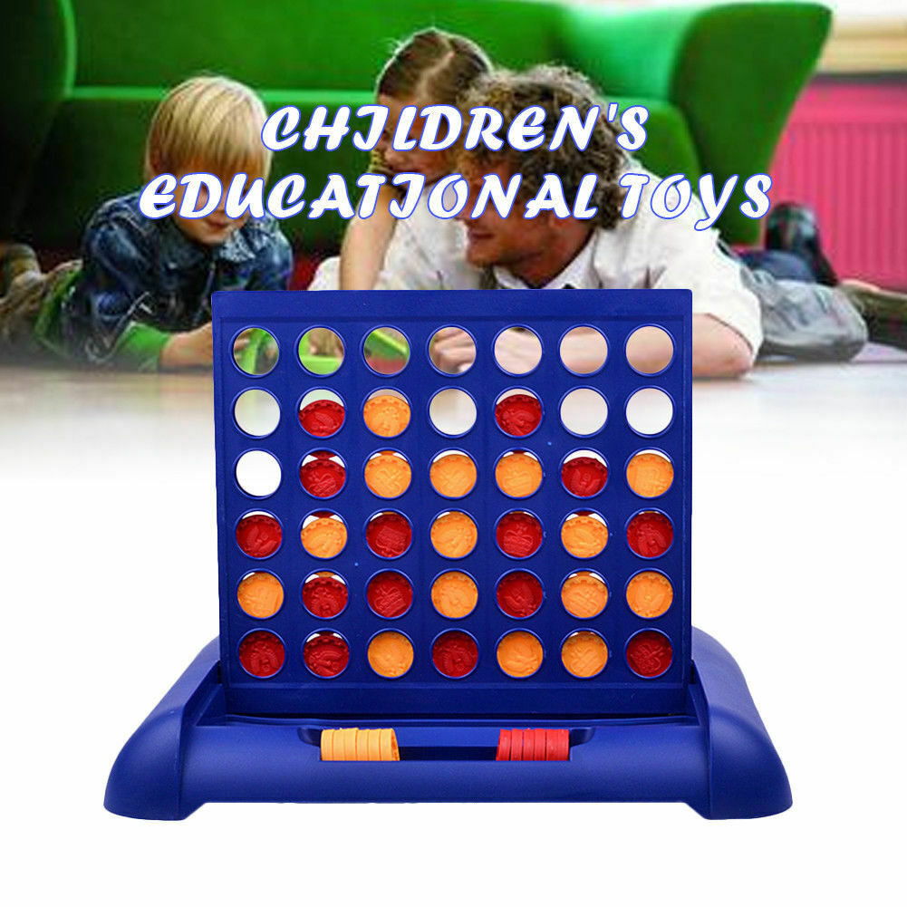 Connect Four In A Row 4 In A Line Educational Toys Family Travel Fun Board Game 2