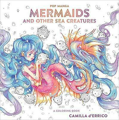 Pop Manga Mermaids And Other Sea Creatures A Coloring Book Colouring Books, Cami