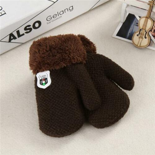 Cute Infant Baby Winter Warm Gloves Cartoon Thicken Full Finger Gloves Mittens