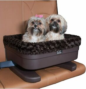 Pet Gear Multi 2 Dog Pet Elevated Raised Booster Car Seat Carrier Chocolat Large