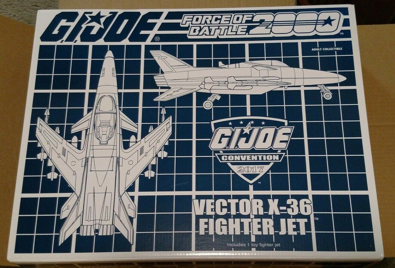 GI Joe Con Exclusive 2017 Vector X-36 Fighter Jet Battle Force 2000 X30 Conquest