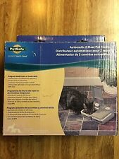 PetSafe 2 Meal Automatic Dog or Cat Feeder with Timer - PFD11-13706 EUC OPEN BOX