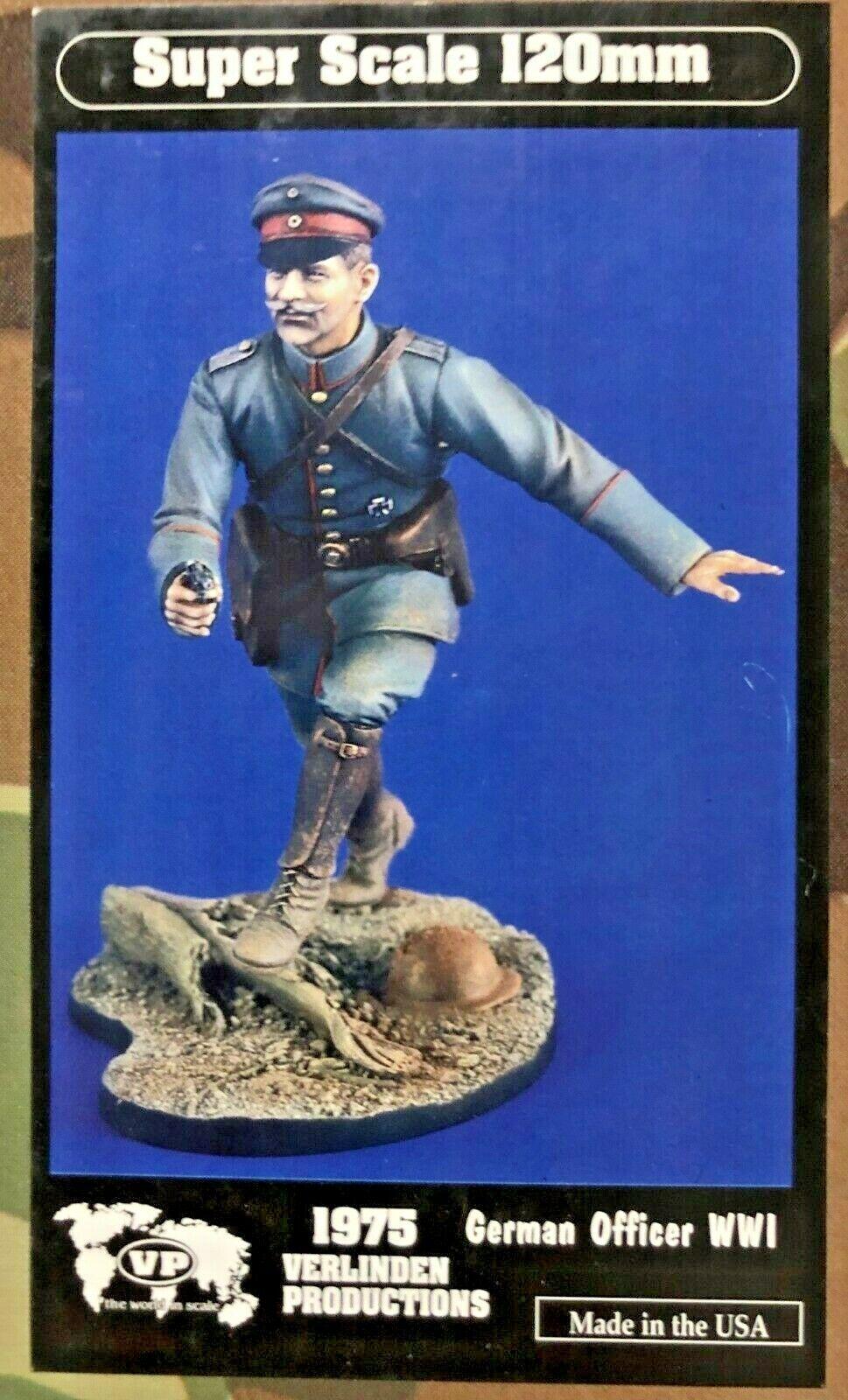 1 16 120MM RESIN Figura VERLINDEN 1975 GERMAN OFFICER WWI. NEW.
