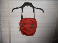 NWT Mandarina Duck Italy Red Orange Isi Crossbody Bag Purse Travelbag + Bonus