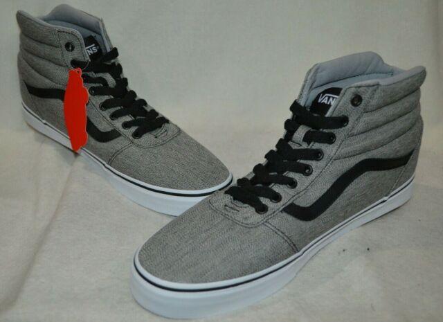 a79fb9e36a95a Vans Men s Ward Static Heather Grey Black Hi Top Skate Shoes - Size 13 NWB