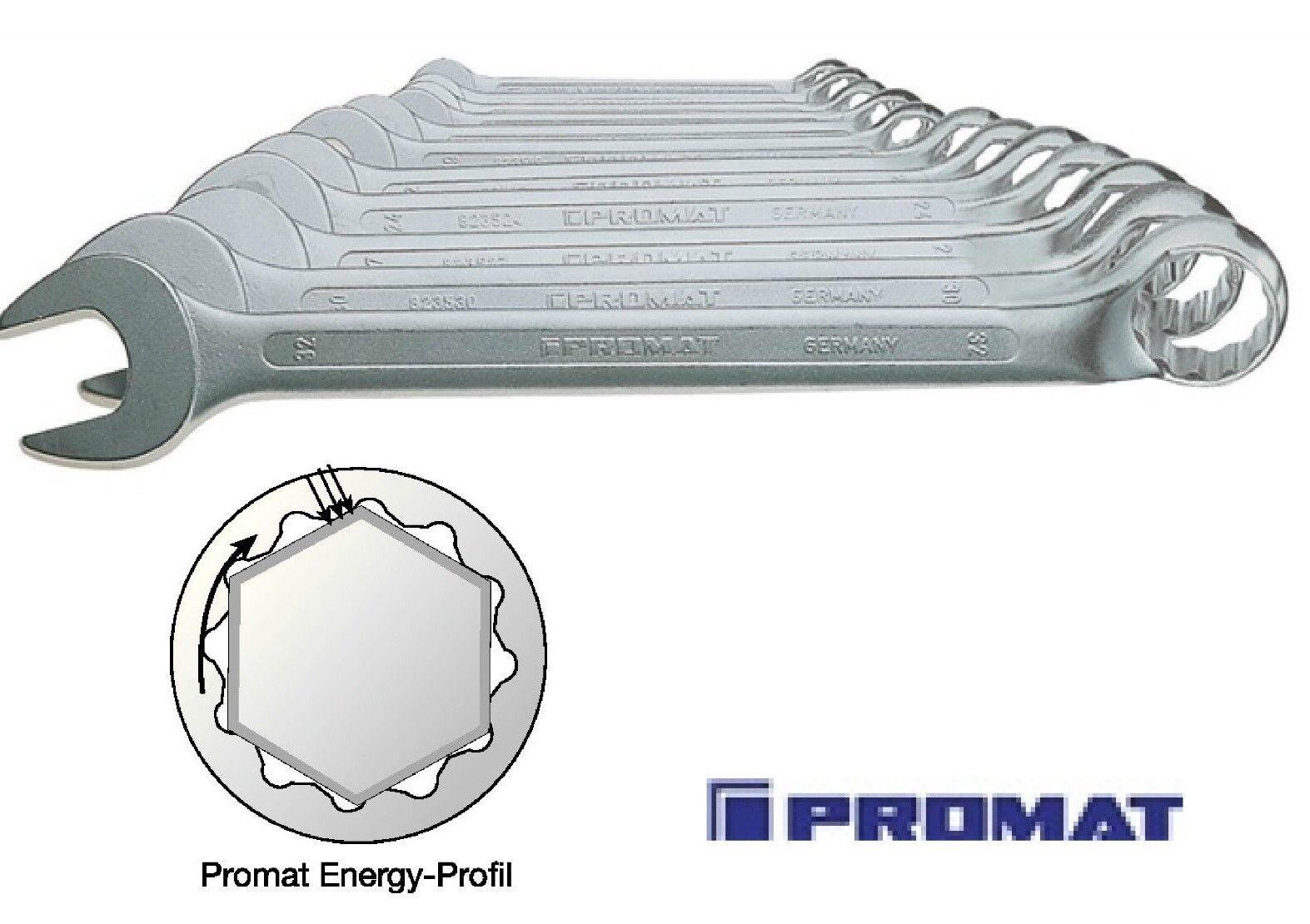 PROMAT RINGMAULSCHLÜSSELSATZ gekröpft Energy-Profil 8 oder 12 tlg.