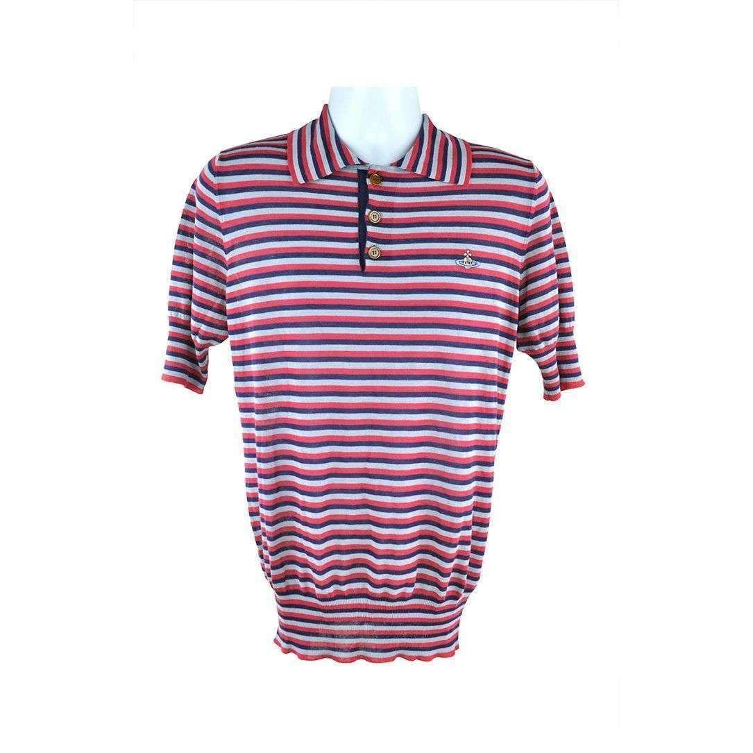 Vivienne Westwood ROT Striped Short Sleeve Top Größe L 319 D167