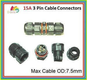 Ip67 Waterproof Cable Joiner Extender Connector 15a 20a Ac