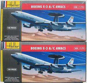 2x-Heller-80308-BOEING-E-3-A-C-AWACS-1-72-Flugzeug-Modellbausatz-Kit