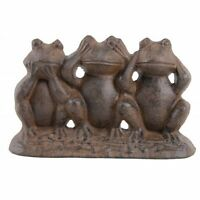 Hear No Evil See No Evil Speak No Evil Cast Iron Frogs, New, Free Shipping on Sale