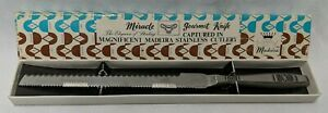 Madeira-Miracle-Gourmet-12-5-034-Serrated-Stainless-Steel-Knife-Vintage-With-Box
