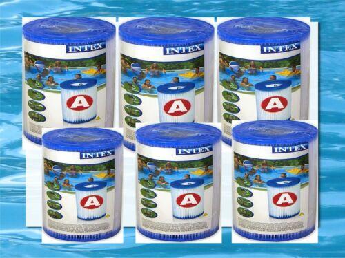 6 Stück Poolfilter Filter Kartusche Filterkartusche Easy Pool INTEX 29000 Typ A