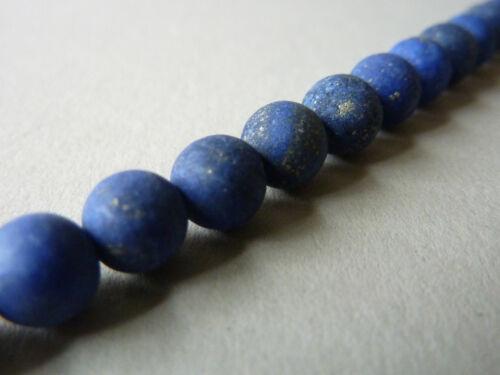 Strang Lapis Mat Gemme Perle Boule Rond Bleu 6 mm environ 38 cm 2224