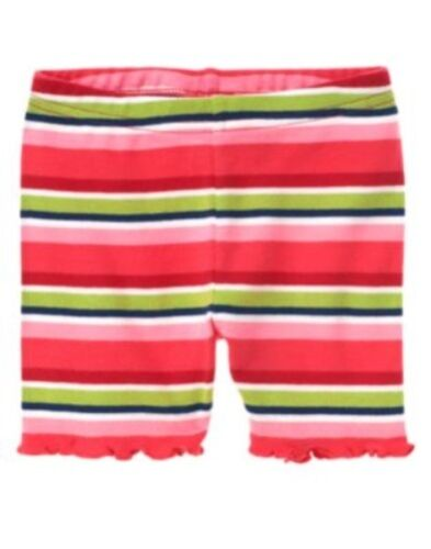 GYMBOREE BLOOMING NAUTICAL COLOR STRIPED BIKE SHORTS 6 12 18 24 2T 3T 4T 5T NWT