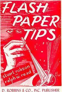 Flash Paper Tips Magic Trick Gag Flame Fire Book Illusion Flash