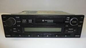 old vw volkswagen oem car dash tape deck 1j0035180b. Black Bedroom Furniture Sets. Home Design Ideas