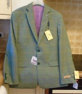Check Gurteen 199 Rrp 95 Nuovo Green Ranshaw Jacket Wool 40 £ R xFPqa
