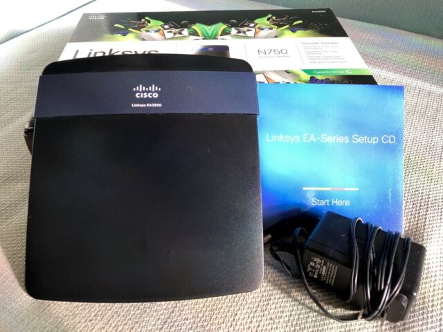 Cisco Linksys EA3500 Dual-Band Wireless N750 SMART WI-FI Router Mac Windows PC
