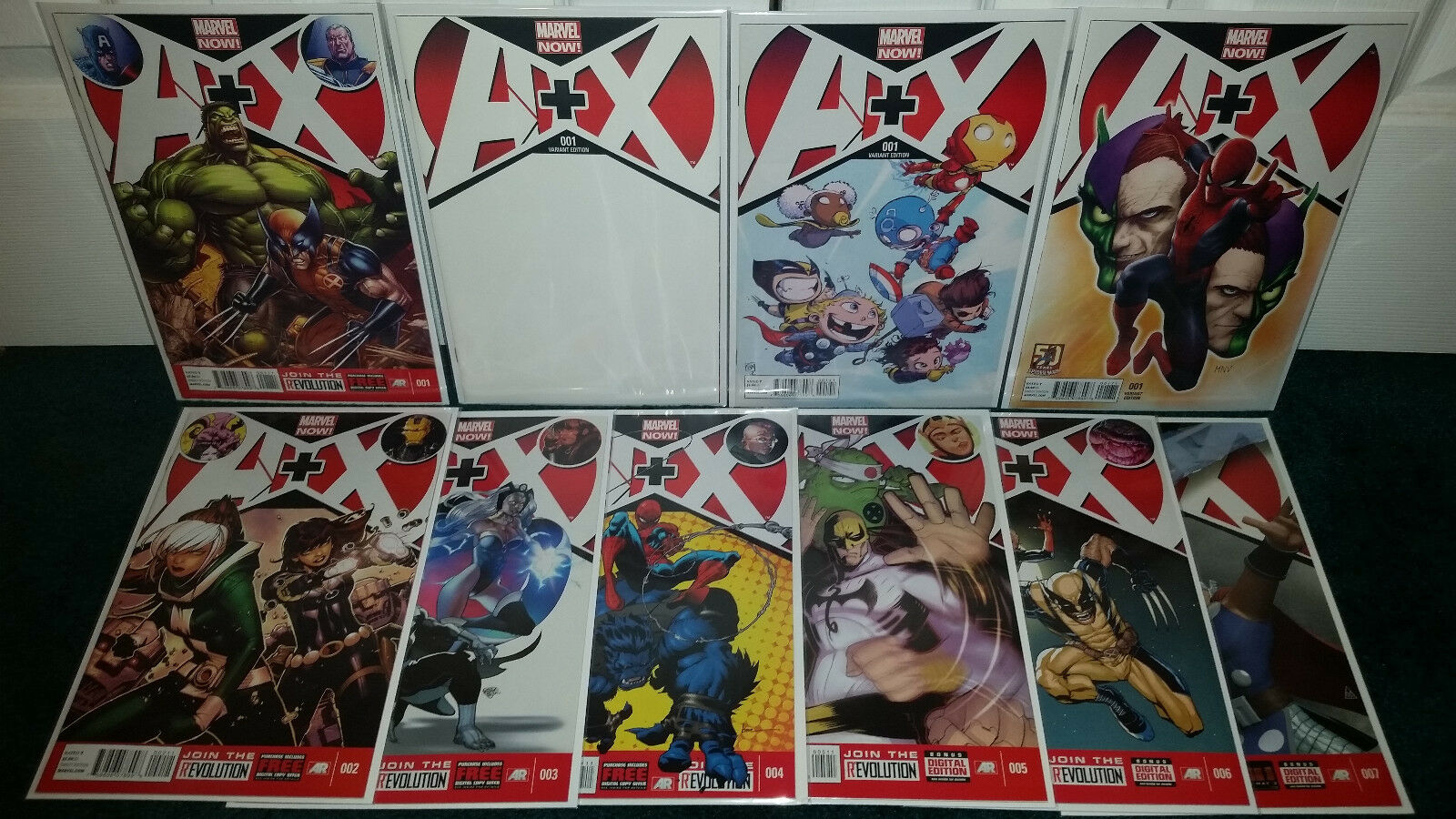 A+X Babies 50th Blank Variant Cover + A+X  's 1-7 Marvel Now Marvel Comics