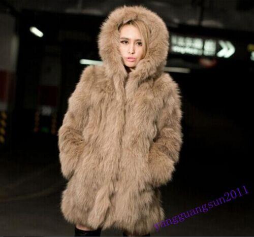 veste réchauffement épaissir femmes à hiver renard de fausse de manteau Nouvelle long vêtements capuche fourrure yvnOPwN80m
