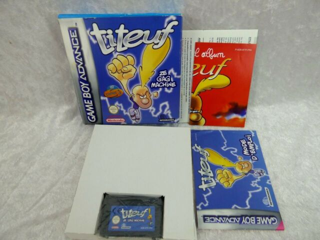 Jeu NINTENDO GAME BOY ADVANCE TITEUF ZE GAG MACHINE
