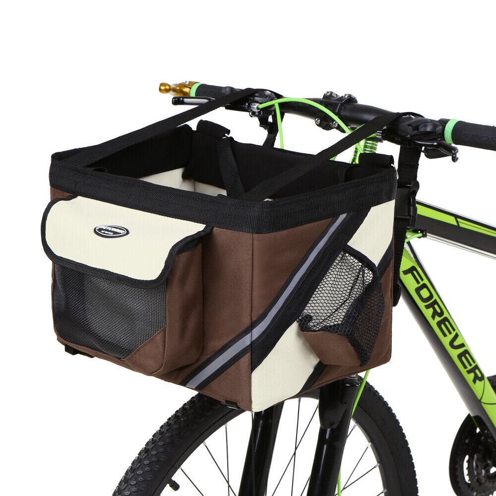 Bicycle Handlebar Basket Bike Front Bag Box Pet  Dog Cat Carrier P0I9  high quality
