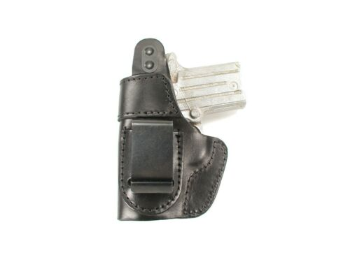 J/&J SPRINGFIELD XDE-9 //45 3.3 OWB W// CLIP FORMED LEATHER HOLSTER W// THUMB BREAK