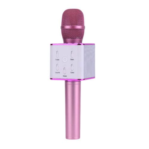 Microfono inalambrico con Altavoz y Bluetooth usb Teléfono Karaoke  Q7