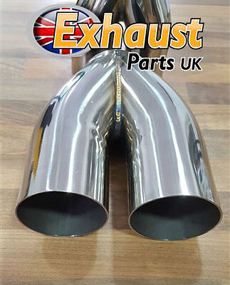 76mm 3 ideal tailpipe collector exhaust y pipe joiner custom 2 into 1 ebay