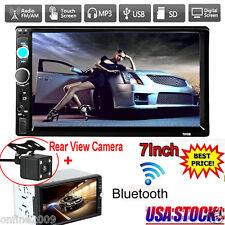 7'' HD Bluetooth 2Din Car Stereo Radio MP3 MP5 Player Touch Screen FM HD Camera