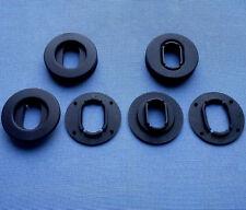 (2508) 4x OVAL Fussmatten Befestigung Clips Boden Klips Halter Clip schwarz