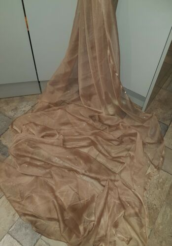 """1M dark gold gold dress tulle with dimond stud FABRIC 45 /"""" WIDE decorating"""
