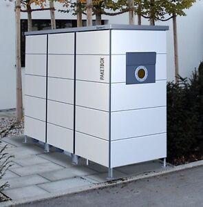m lltonnenhaus mit paketkasten m lltonnenbox mit paketbox 2 3 tonnen m llbox ebay. Black Bedroom Furniture Sets. Home Design Ideas