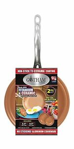 """Gotham Steel 2 Pack - 9.5"""" and 8.5"""" Fry Pan Set with Non-Stick Copper Coating!"""