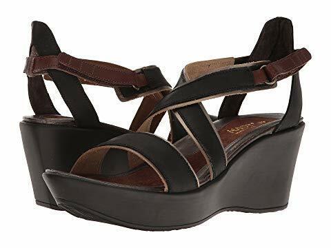 NAOT Cuoio  per donne in pelle Wedged Sandals nero Dimensione EU 41  US 10 -10.5M  alta quaità