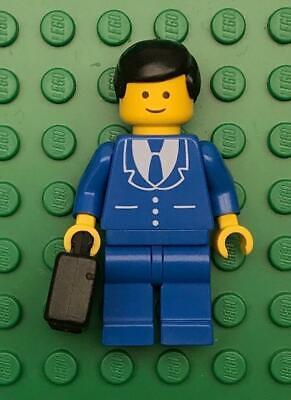 figure lot town city lawyer blue suit classic vintage Lego Businessman Minifig