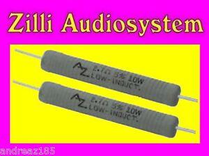 AZ-AUDIOCOMP-R10-4B7-Coppia-resistenze-da-4-7-Ohm-10-W-antinduttive-Best-NUOVE