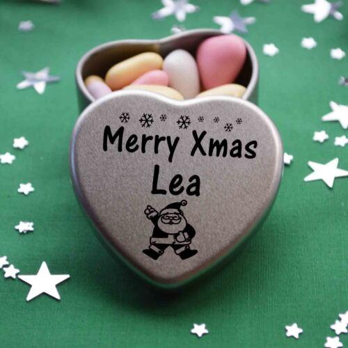 Merry Xmas Lea Mini Heart Tin Gift Present Happy Christmas Stocking Filler
