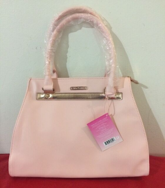 Juicy Couture Tote Bag Shoulder Hand Pink Gold
