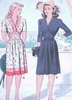 7 Afternoon Or Shopping Day Dress Pattern For Fashion Dolls