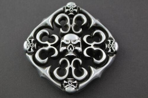 Cráneo cráneos Forma de Diamante Correa Hebilla De Metal