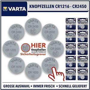 VARTA Knopfzelle CRxxx 3V CR2025 CR2016 CR2032 CR1620 CR1616 CR1220