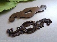 Schlüsselblende Schlüsselschild Schlüsselblenden Möbelbeschläge Dunkel Brüniert