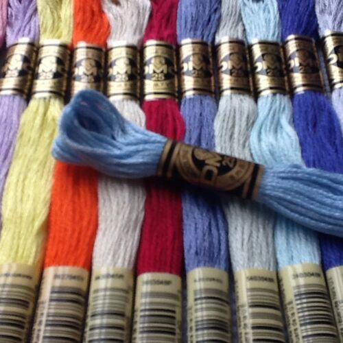 5 DMC point de croix échevettes//Threads Choisissez vos propres couleurs Gratuit Pp