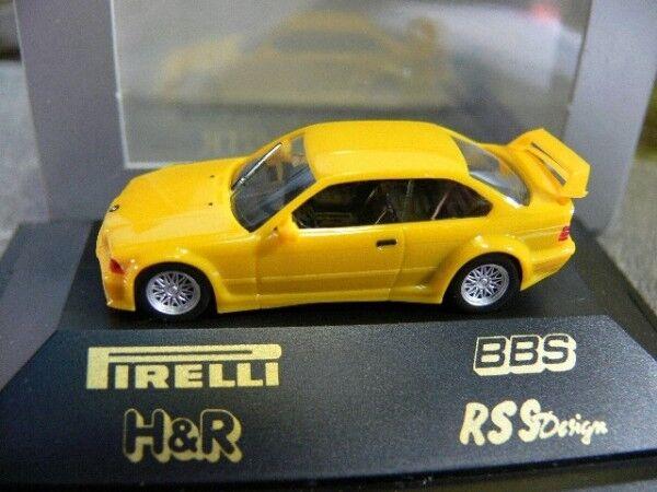 1 87 Herpa Bmw m3 gtr Speedjaune Pirelli BBS spéciale Modèle