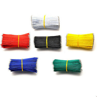 100x White Yellow Blue Red Tinning PE Wire PE Cable 50MM 5cm Jumper Wire Copper