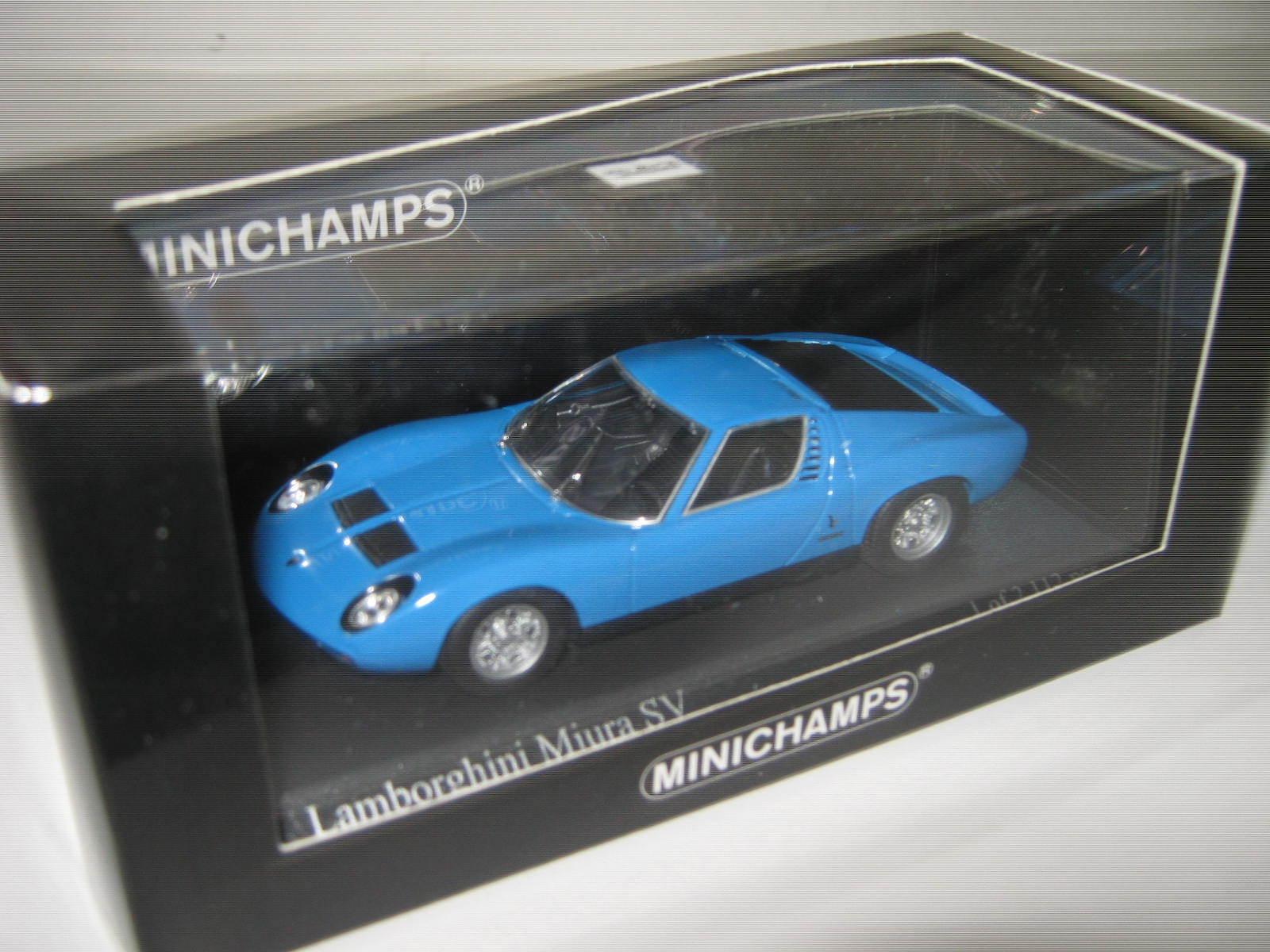 1 43 LAMBORGHINI MIURA SV bleu 1971 1971 1971 L. E. 1 of 2112 MINICHAMPS 400103650 neuf dans sa boîte New 161662