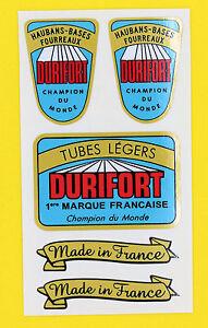 DURIFORT-Champion-Du-Monde-TUBE-Cycle-Bike-Frame-Decals-Stickers-metallic-ink