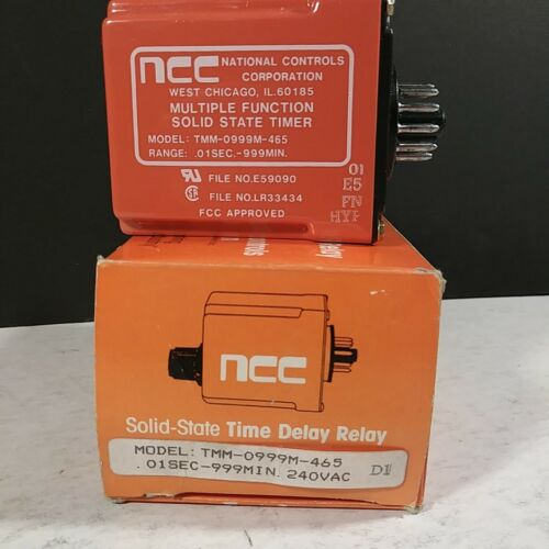 NCC Multifunction Solid State Time Delay Relay TMM-0999M-465 w//Socket