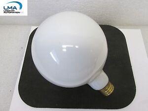 SPECTRO-100W-WHITE-GLOBE-BULB-LIGHT-LAMP-130V-ROUND-NEW